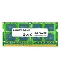 2-Power RAM-geheugen: soDIMM, 2 GB, Unbuffered, 1066 MHz, DDR3, 2 GB, 1 x 2 GB , 7, Dual Rank