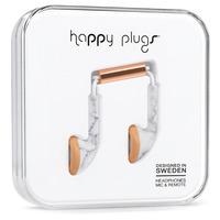 Happy Plugs Earbug Headset - Goud, Wit