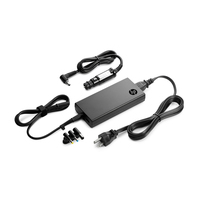 HP oplader: 90-Watt Slim combo-adapter met USB - Zwart