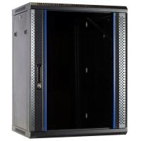 DS-IT 15U wandkast met glazen deur 600x600x770mm Stellingen/racks