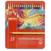 Caran d-Ache potlood: SUPRACOLOR Soft Aquarelle 18 - Multi kleuren, Rood