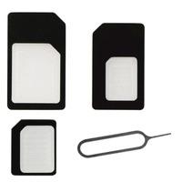BeHello SIM/flash memory card adapter: SIMcard Adapters (SIM/Micro SIM/Nano SIM) - Zwart