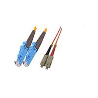 Microconnect fiber optic kabel: E2000 - SC, 62.5/125, 2m