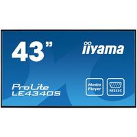 Iiyama public display: ProLite LE4340S-B1 - Zwart