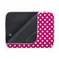 Pat Says Now laptoptas: Pink Polka Dot Sleeve - Roze, Wit