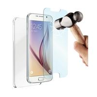 Muvit mobile phone case: Crystal case + 0.33m tempered glass voor de Samsung Galaxy S6 - Transparant