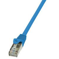 LogiLink netwerkkabel: 0.25m Cat.5e SF/UTP RJ45 - Blauw