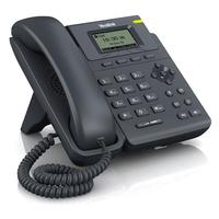 Yealink IP telefoon: 1 VoIP Account, 2 x 10/100 Ethernet RJ-45, 2 x RJ-9, 5-Line LCD (132 x 64), PoE - Zwart