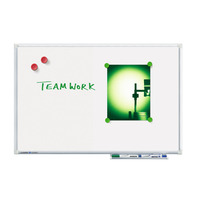Legamaster whiteboard: ECONOMY whiteboard 90x120cm - Grijs, Wit