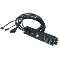 Corsair interfaceadapter: Obsidian Series 550D I/O panel replacement with all cables - Zwart