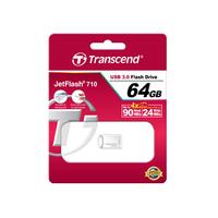 Transcend USB flash drive: JetFlash JetFlash 710S 64GB - Zilver