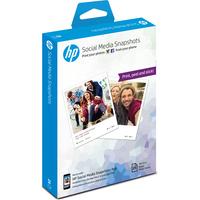 HP fotopapier: Social Media Snapshots Removable Sticky Photo Paper-25 sht/10 x 13 cm - Wit