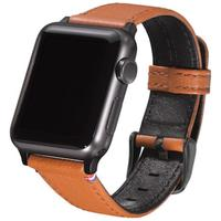 Decoded : Leather Strap for AppleWatch 38 mm, Brown - Bruin