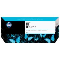 HP inktcartridge: 81 zwarte DesignJet kleurstofinktcartridge, 680 ml