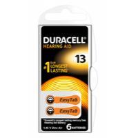 Duracell batterij: Hearing Aid-batterijen maat 13, verpakking van 6