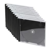 LogiLink : CD- and DVD Case, Jewel-Case, 10 pcs - Zwart, Transparant