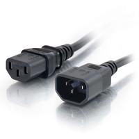 C2G Computer Power Cord Extension - Power extension cable (250 VAC) - IEC 320 EN 60320 C13 - IEC 320 EN 60320 C14 - 0.5 m