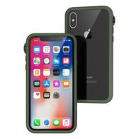 Catalyst mobile phone case: CATDRPHXGRN, for iPhone X, Rubber, Non-Waterproof, Polymer, Green/Transparent - Groen, .....