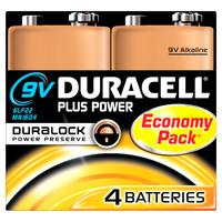 Duracell 9V Plus Power (4 pack)