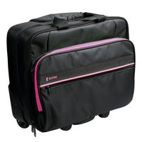 "König laptoptas: Business trolley 15""/16"", Polyester, Hot Pink - Zwart, Roze"