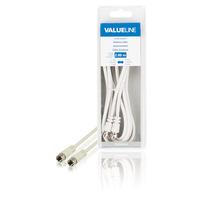 Valueline Antennekabel, F mannelijk - F mannelijk, 2.00 m, wit Coax kabel