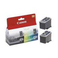 Canon inktcartridge: PG-40 / CL-41 - Cyaan, Magenta, Zwart Pigment, Geel