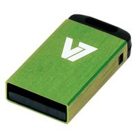 V7 USB NANO STICK 4GB GREEN USB 2.0