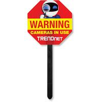 Trendnet waarschuwingsbord: Video Surveillance Yard Sign - Rood