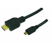 LogiLink HDMI kabel: 3m HDMI to HDMI Micro - M/M - Zwart
