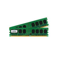 Crucial RAM-geheugen: 4GB DDR2 UDIMM - Groen