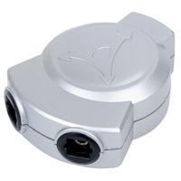 HQ 3x Toslink kabel splitter of combiner - Zilver