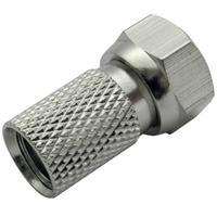 Schwaiger coaxconnector: FST7002 602 - Zilver