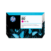 HP inktcartridge: 80 magenta DesignJet inktcartridge, 350 ml