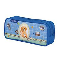 Herlitz potlood case: Pretty Pets Dog - Blauw, Multi kleuren