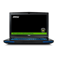 MSI laptop: Workstation WT72-6QJ16H11 - Zwart