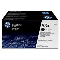 HP cartridge: 53X - Zwart - Dual-pack