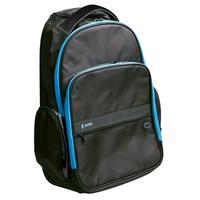 "König rugzak: Trolley backpack, 15""/16"", Ice Blue - Zwart, Blauw"