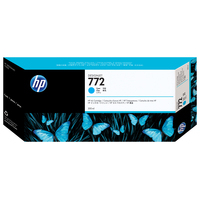 HP inktcartridge: 772 cyaan DesignJet inktcartridge, 300 ml