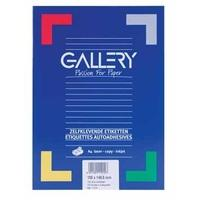 Gallery Labels 70 x 37mm 100 sheets Etiket - Wit