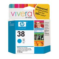 HP inktcartridge: 38 originele cyaan inktcartridge