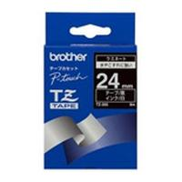 Brother labelprinter tape: Gloss Laminated Labelling Tape - 24mm, White/Black