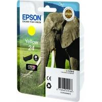 Epson inktcartridge: Singlepack Yellow 24 Claria Photo HD Ink - Geel