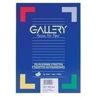 Gallery Labels 70 x 42mm 100 sheets Etiket - Wit