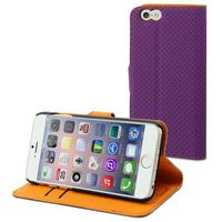 Muvit mobile phone case: Wallet Case with 2 Cardslots for Apple iPhone 6 - Purple/Orange - Oranje, Paars