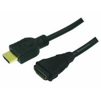 LogiLink HDMI kabel: HDMI/HDMI, 2.0m - Zwart
