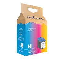 Wecare inktcartridge: Inkjetsupport voor HP C6657A No.57 Color - Cyaan, Magenta, Geel