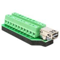 DeLOCK kabel adapter: Adapter Mini Displayport female > Terminal Block 22 pin - Zwart, Groen, Zilver