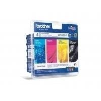 Brother inktcartridge: LC1100HYVALBP - 1x zwart, geel, cyaan, magenta - Zwart, Cyaan, Magenta, Geel