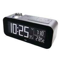 Balance wekker: Radio-Controlled Alarm Clock LCD Silver/Black - Zwart, Zilver
