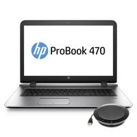 HP laptop: ProBook 470 G3 +  speakerphone (W4P76ET + K7V16AA) - Zilver